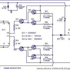 12v Solar Panel Wiring Diagram Electric Furnace Factorio Power Inverter 100w, Dc To 220v Ac - Schematic Design