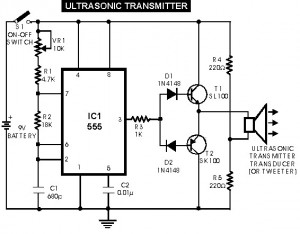 Ultrasonic transmitter - switch