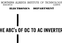 The ABCs of DC to AC Inverters