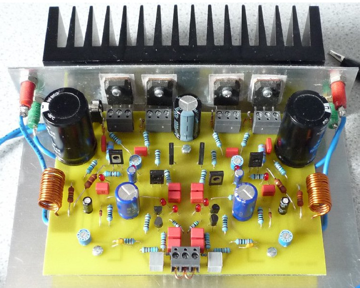 Stereo Power Audio Amplifier Circuit And Explanation Diagram Source