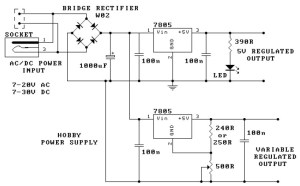 Hobby Power Supply Circuit Diagram