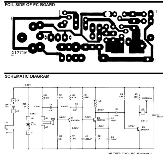 fm wireless microphone schematic design