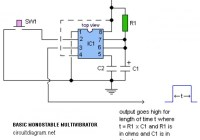 Basic Monostable Multivibrator Circuit Electronic