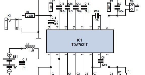 Mini FM Receiver Circuit Electronic