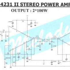 100w Subwoofer Amplifier Circuit Diagram Jeep Wrangler Tj Wiring Dual Car Toyskids Co 2 X Stereo Power With Stk4231ii Schematic Amp