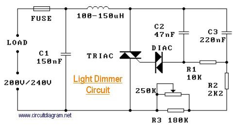 220V Light Dimmer Circuit Electronic