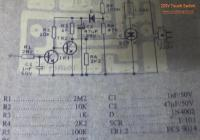 220V Touch Switch Circuit Electronic