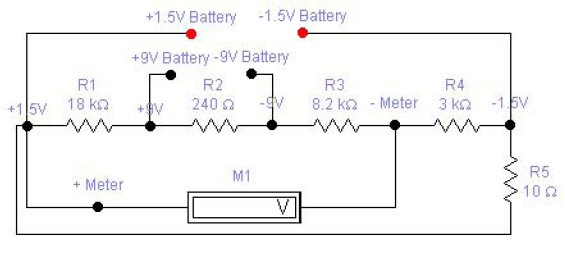 1.5v to 9v battery tester circuit diagram
