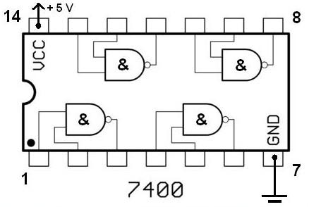 Nand gate clock generator schematic design for Circuit nand