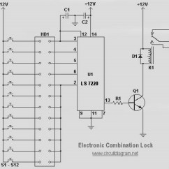 Guitar Speaker Wiring Diagram Of Eclipse The Sun Simple Electronic Combination Lock - Schematic Design
