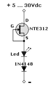 LED pilot light circuit with FET