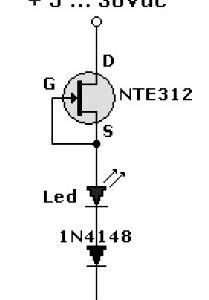 LED pilot light circuit with FET