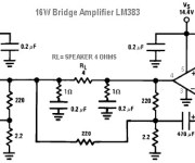 16W Bridge Amplifier using LM383