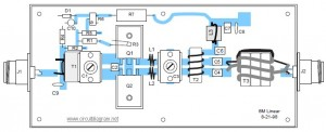 50MHz 300W MOSFET Linear Amplifier Top Layout