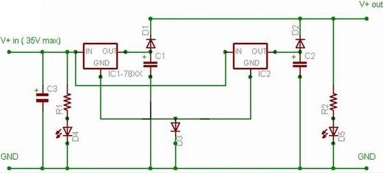 doubling electric current output for 78xx regulator