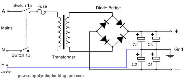 Symmetrical Power Supply Circuit