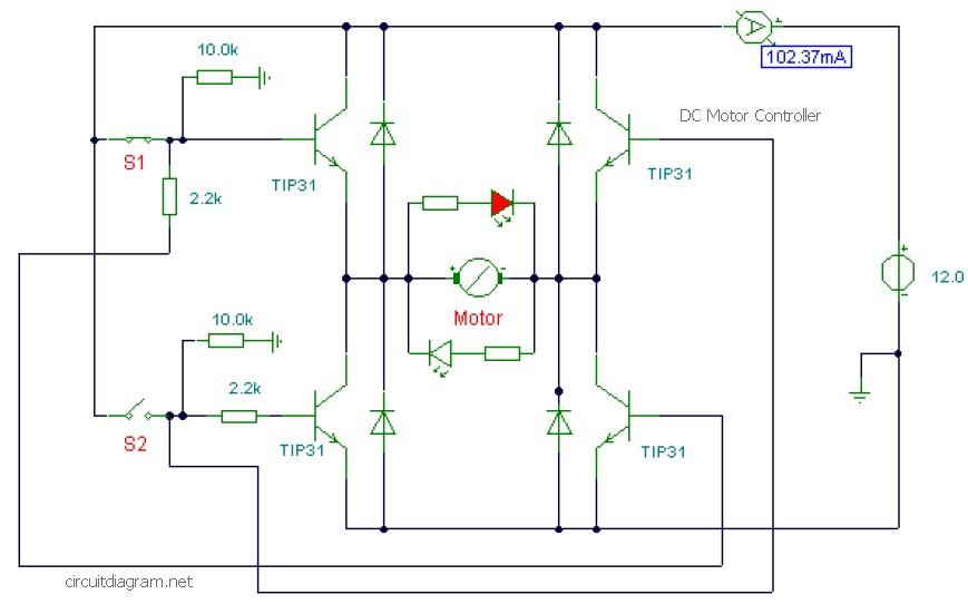 DC motor controller circuit