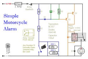 easy build motocycle alarm