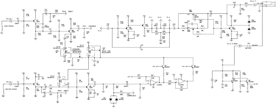 rd artist bass guitar circuit diagram