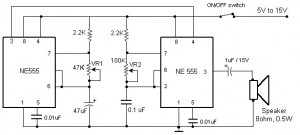 sound beeper circuit diagram