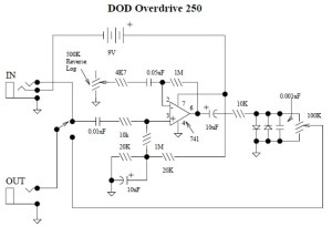 DOD Overdrive Preamp 250 circuit diagram