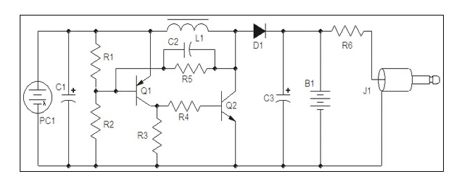 solar powered mobile phone charger circuit
