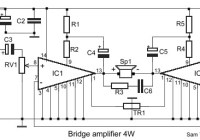 4W Bridge Amplifier Circuit