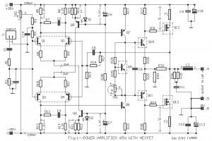 65W Power Amplifier circuit using HEXFET