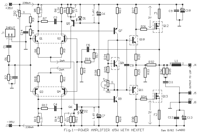 high quality 150w power amplifier circuit