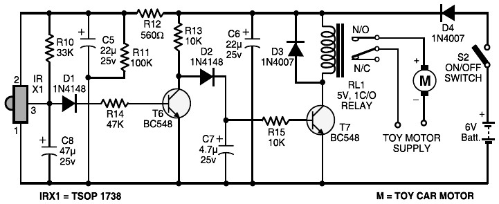 Remote Control Receiver Circuit
