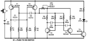 Ultrasonic Transmitter Receiver Sensor Circuit Of T R 40 Series likewise N Regulatory  working Circuit With Ultra High Frequency moreover Infrared  munications For Atmel Mega644 1284 Microcontrollers additionally Medium Wave Am Radio Circuit likewise 2010 10 01 archive. on infrared transmitter and receiver circuit
