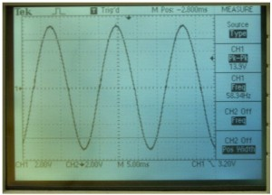 Output of DC-AC Pure Sine Wave Inverter Circuit