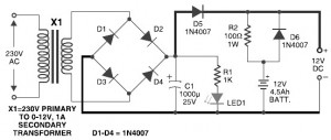 Power Supply and Battery Backup for Pyroelectric Fire Alarm System