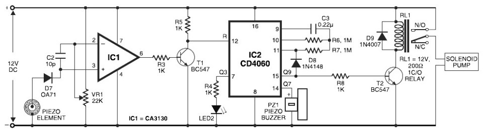 Pyroelectric Fire Alarm System
