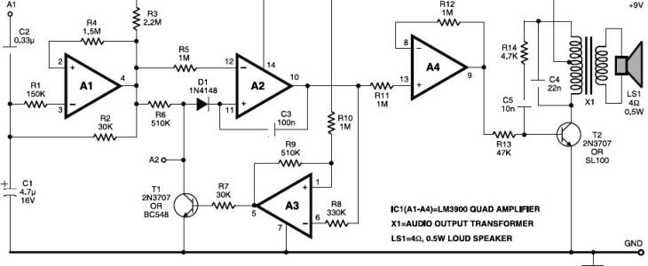 Electronic Horn Circuit