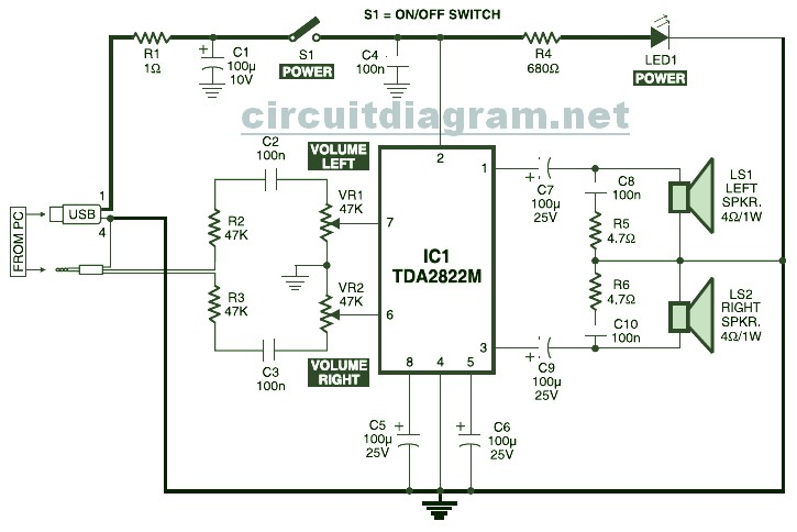 Wiring Diagram Computer Speakers