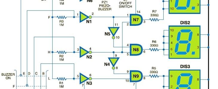 water level indicator circuit electronic