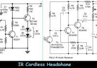 ir cordless headphone circuit electronic