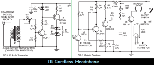 ir cordless headphone circuit diagram