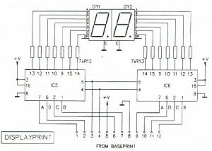 Digital RPM Meter Display Schematic