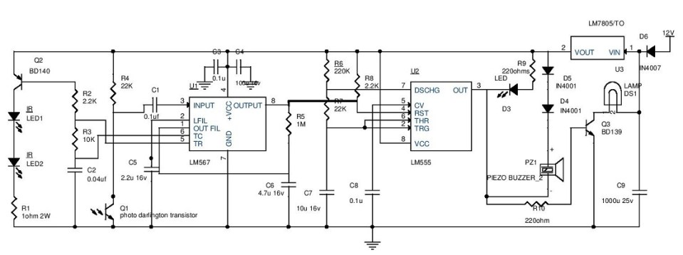 Car Parking Guard Circuit Electronic