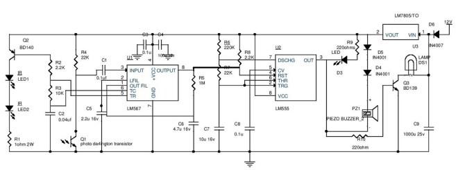 Car Parking Guard Circuit Electronic