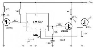 Proximity Infrared Detector Circuit
