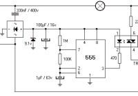 220V 800W Lamp Flasher Circuit Electronic