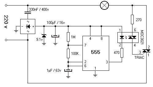 220V 800W Lamp Flasher Circuit Electronic