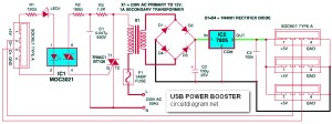 USB Power Booster for PC  Laptop  Schematic Design