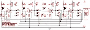 Circuit Diagram of Electronic Quiz Button Table