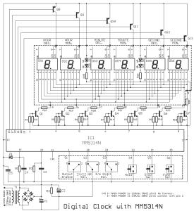 7 Segment LED Digital Clock with IC MM5314N