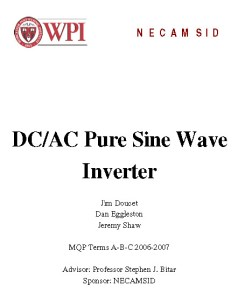 DC-AC Pure Sine Wave Inverter PDF Document Cover