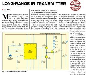 Long Distance IR Transmitter Scheme